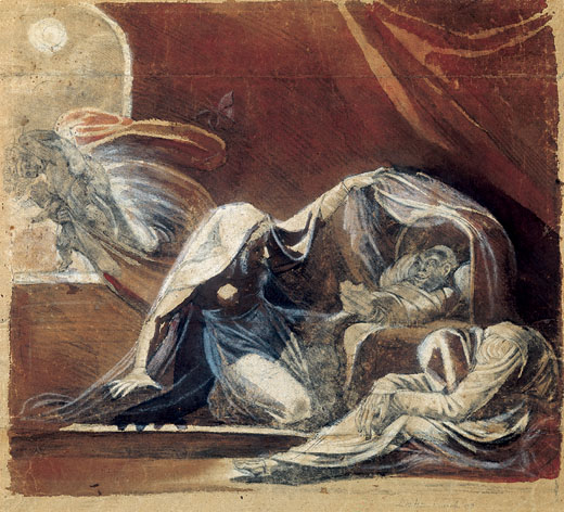 A Fuseli painting of fairies stealing a child C.1790